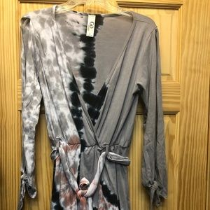 Soft and flowy tie dye dress from go couture